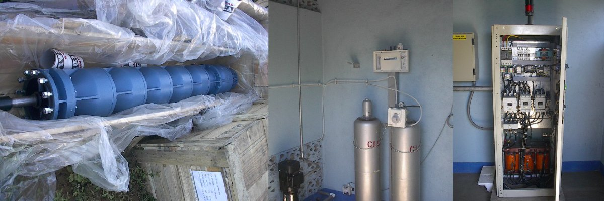 Supply and installation of complete vertical turbine pumps, including the complete pumping station and the emergency generator.