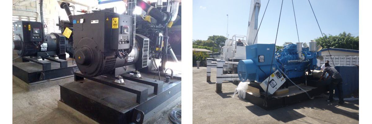 Supply of 10 electric generators for CAMANICA Shrimp Farm: