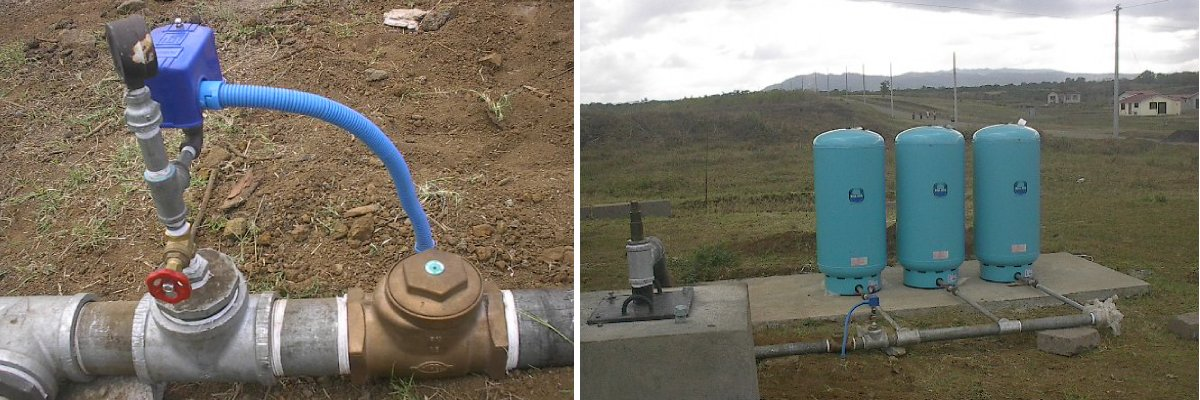 Supply and installation of submersible pumping equipment complete with pressure tanks and hydropneumatic system.